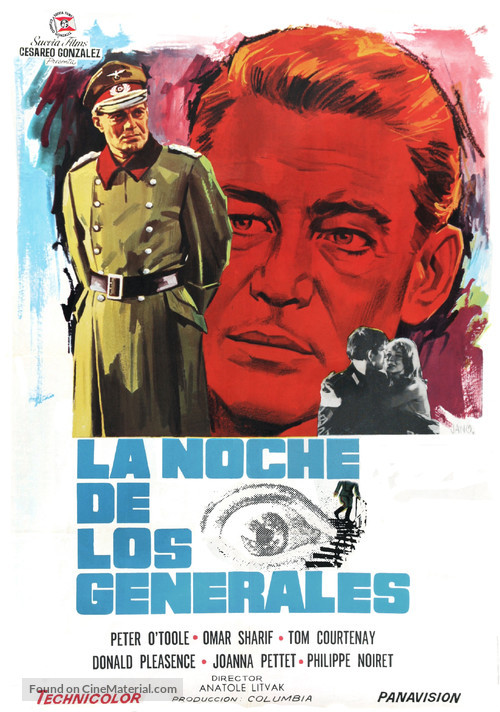 The Night of the Generals - Spanish Movie Poster