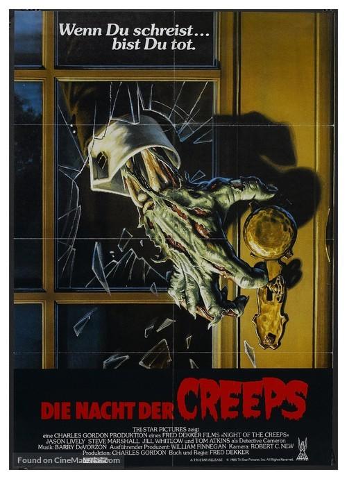 Night of the Creeps - German Movie Poster