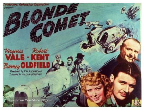Blonde Comet - British Movie Poster