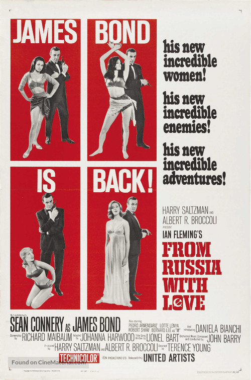 From Russia with Love - Theatrical movie poster