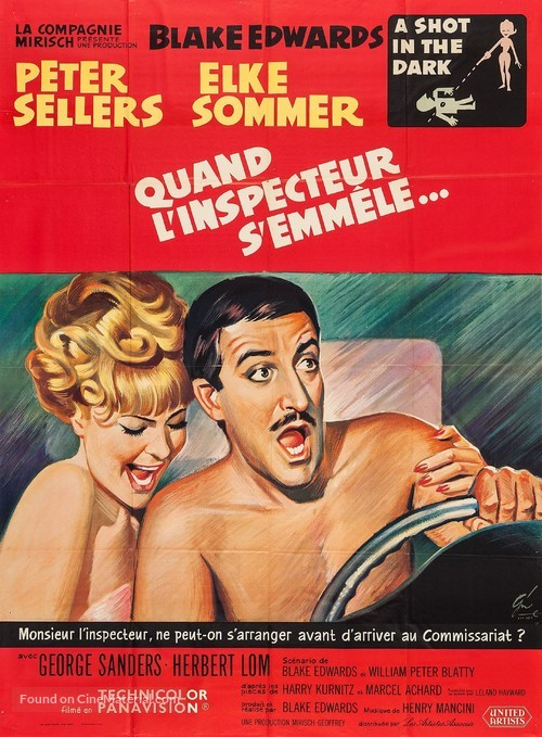 A Shot in the Dark - French Movie Poster