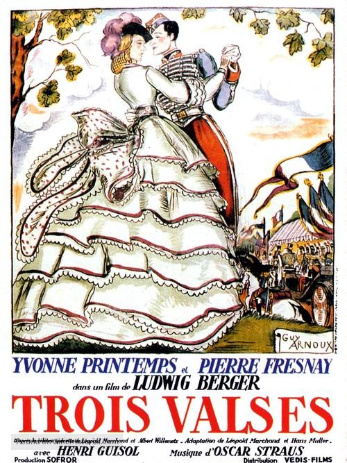 Les trois valses - French Movie Poster