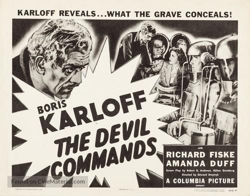 The Devil Commands - Movie Poster