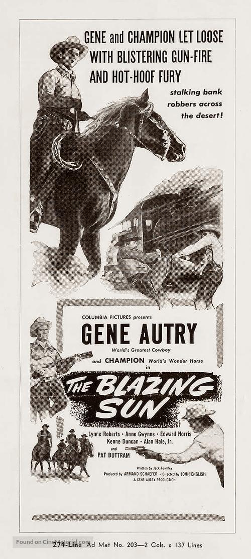 The Blazing Sun - poster