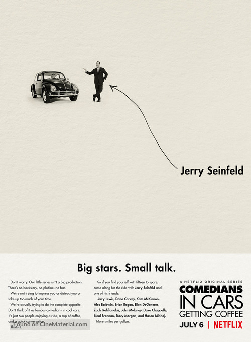 """Comedians in Cars Getting Coffee"" - Movie Poster"