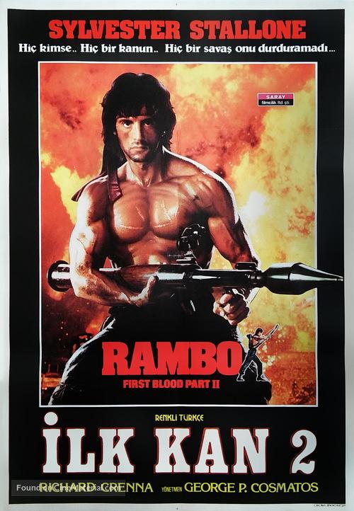 Rambo: First Blood Part II - Turkish Movie Poster