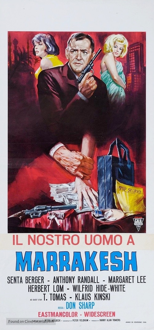 Our Man in Marrakesh - Italian Movie Poster