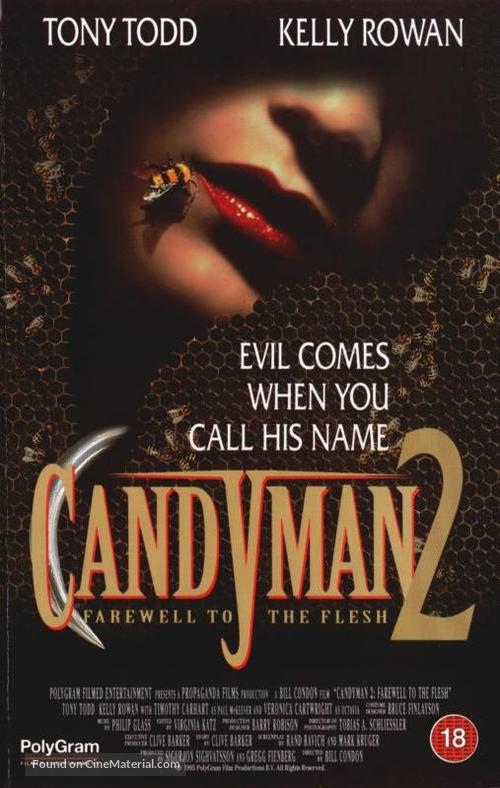Candyman: Farewell to the Flesh - British VHS movie cover