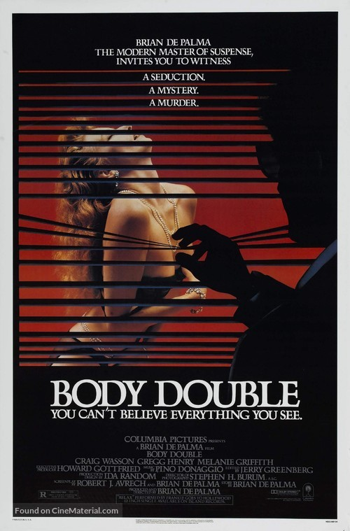Body Double - Theatrical movie poster