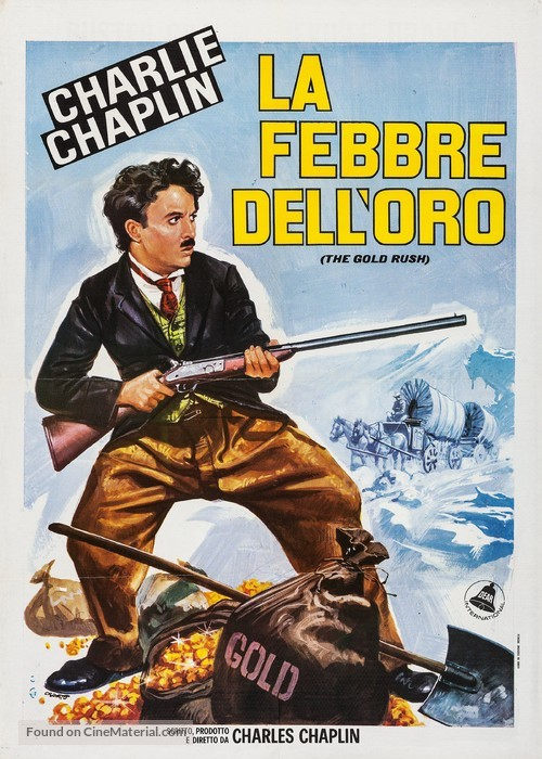 The Gold Rush - Italian Re-release movie poster