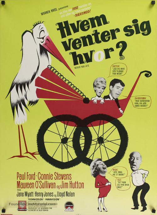 Never Too Late - Danish Movie Poster
