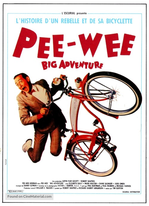 Pee-wee's Big Adventure - French Movie Poster