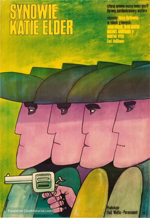 The Sons of Katie Elder - Polish Movie Poster