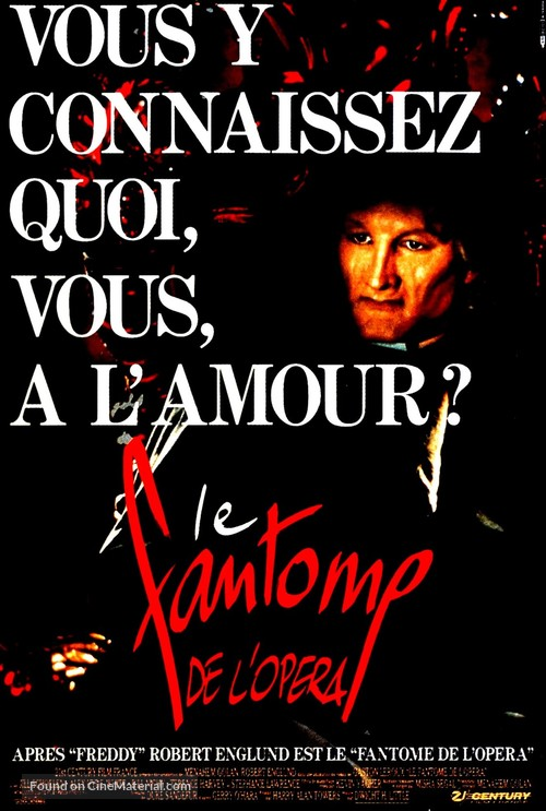 the phantom of the opera french movie poster