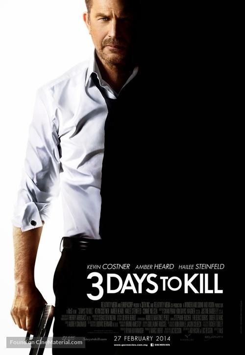 3 Days to Kill - Malaysian Movie Poster