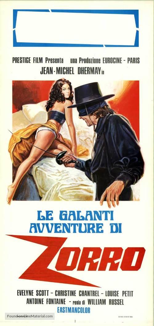 The Erotic Adventures of Zorro - Italian Movie Poster