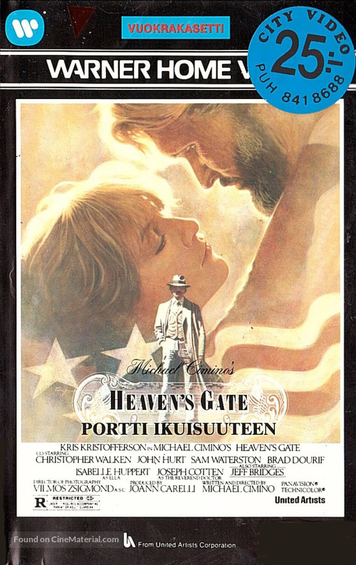 Heaven's Gate - Finnish VHS movie cover
