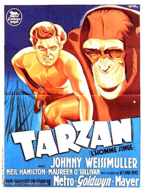 Tarzan the Ape Man - French Movie Poster