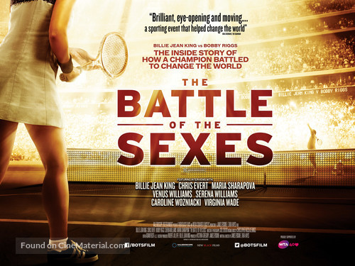 Battle of the Sexes - British Movie Poster