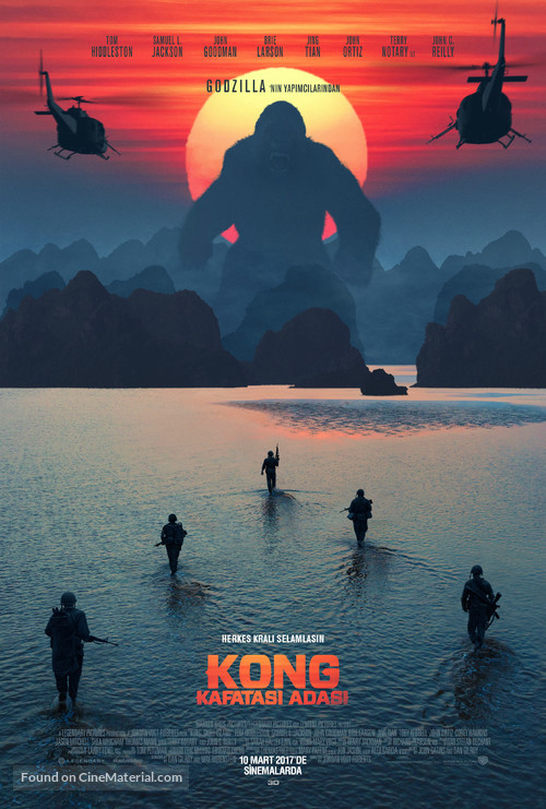 Kong: Skull Island - Turkish Movie Poster