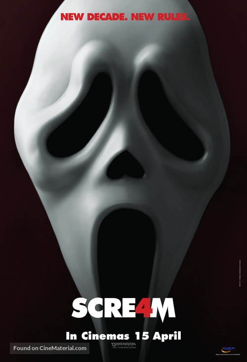 Scream 4 - Malaysian Movie Poster