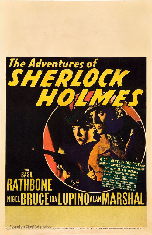 The Adventures of Sherlock Holmes - Movie Poster