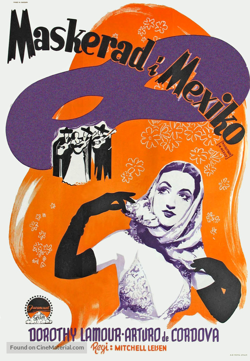 Masquerade in Mexico - Swedish Movie Poster