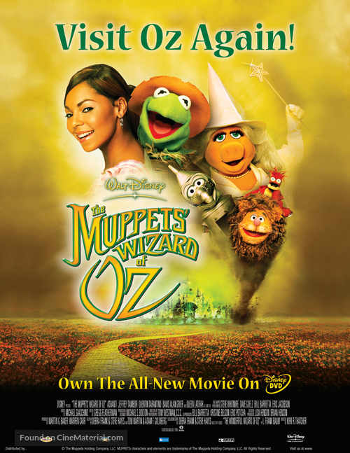 The Muppets Wizard Of Oz - Video release movie poster