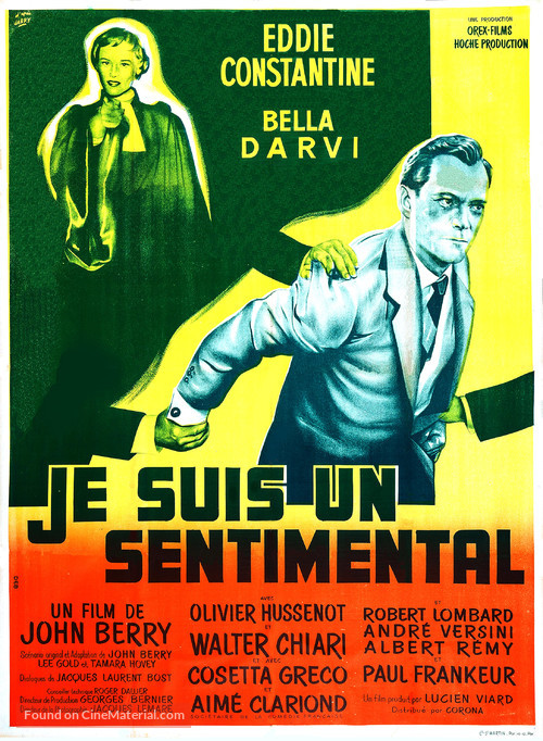 Je suis un sentimental - French Movie Poster