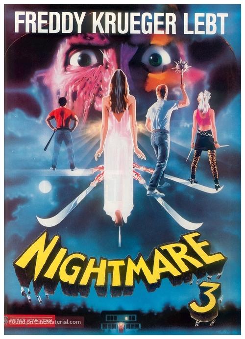 A Nightmare On Elm Street 3: Dream Warriors - German Movie Cover