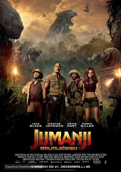 Jumanji: Welcome to the Jungle - Slovak Movie Poster