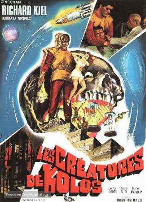 The Human Duplicators - French Movie Poster