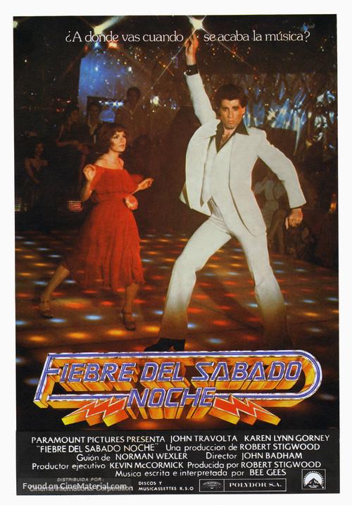 Saturday Night Fever - Spanish Movie Poster
