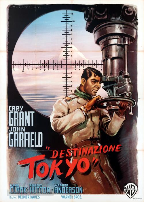 Destination Tokyo - Italian Movie Poster