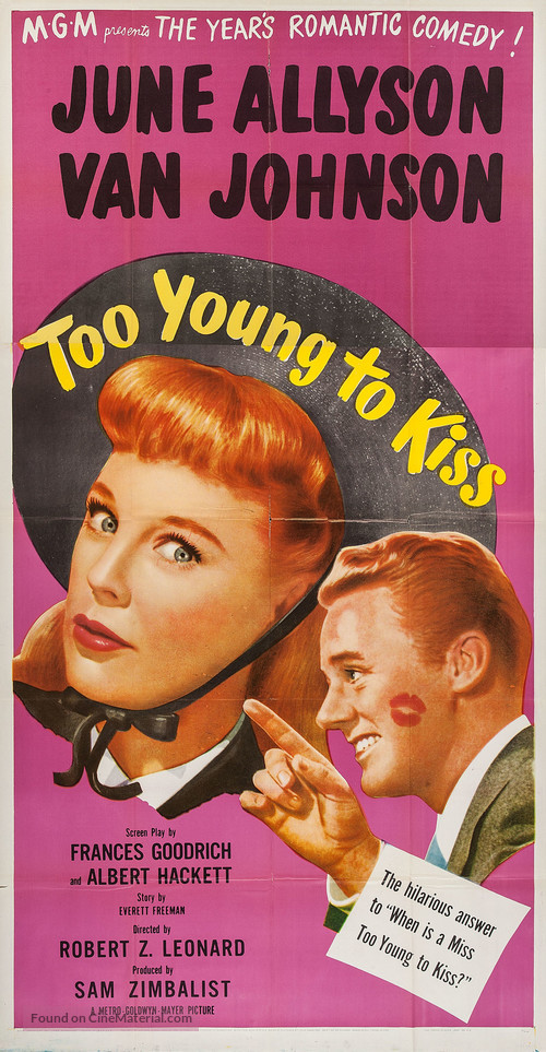 Too Young to Kiss (1951) movie poster