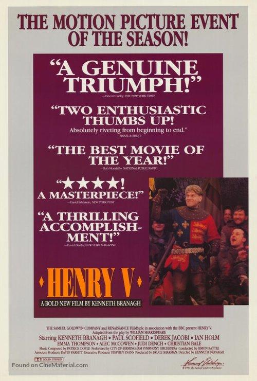 Henry V - Movie Poster