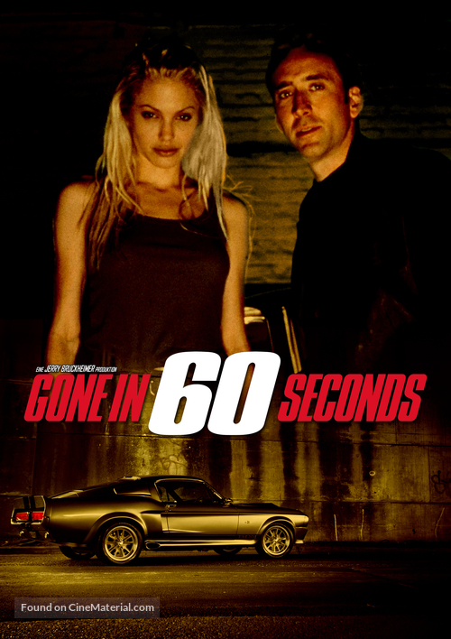 Gone In 60 Seconds - DVD movie cover