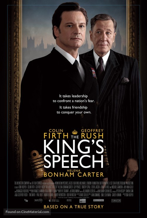 The King's Speech - British Movie Poster