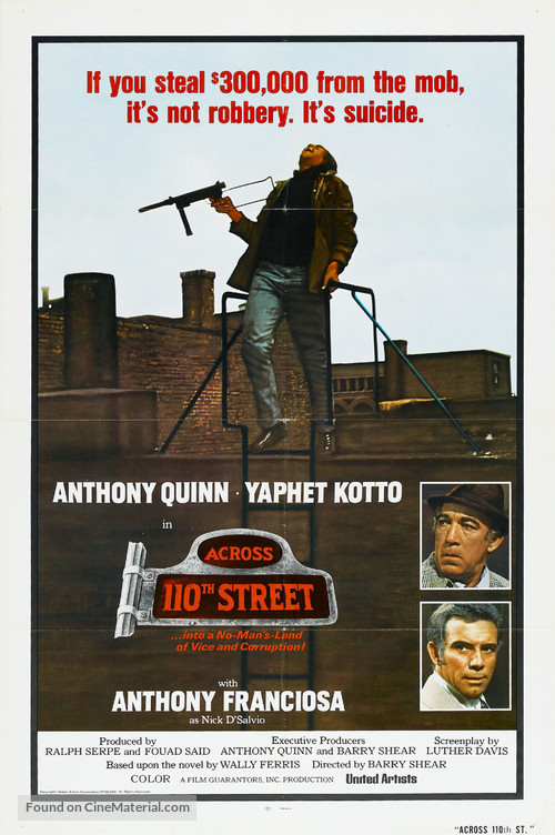 Across 110th Street - Movie Poster