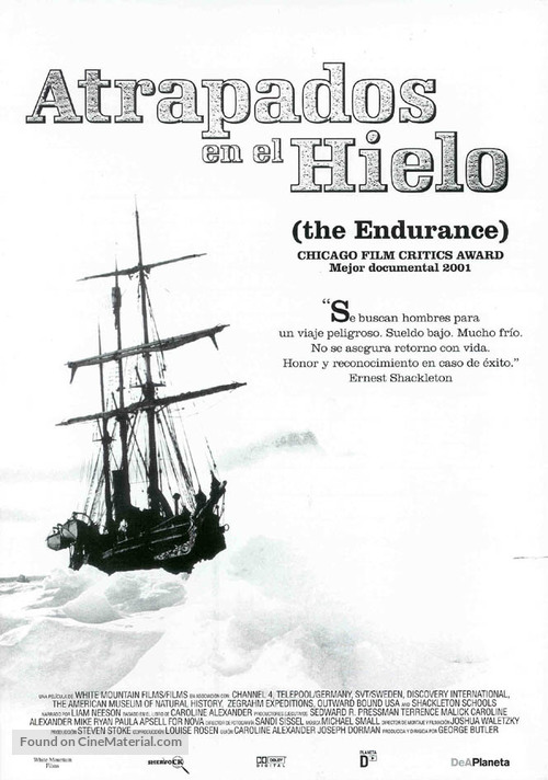 The Endurance: Shackleton's Legendary Antarctic Expedition - Spanish Movie Poster