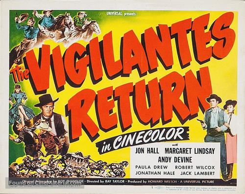 The Vigilantes Return - Movie Poster