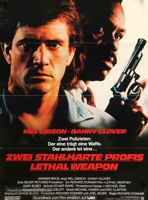 Lethal Weapon - German Movie Poster