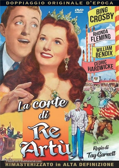 A Connecticut Yankee in King Arthur's Court - Italian DVD movie cover