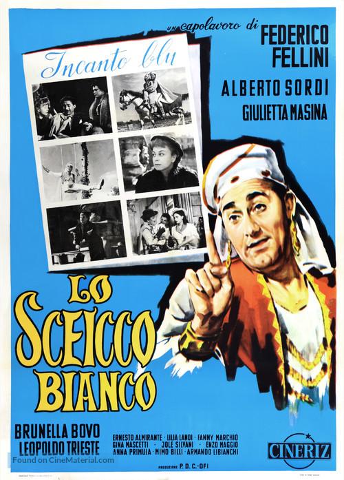 Lo sceicco bianco - Italian Movie Poster