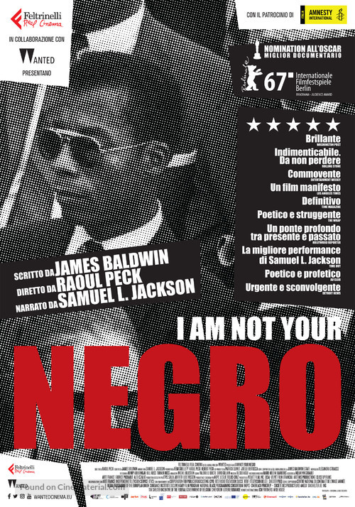 I Am Not Your Negro - Italian Movie Poster