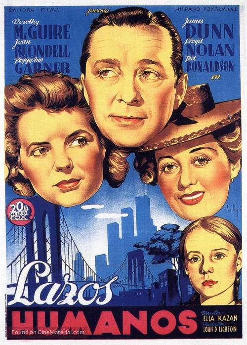 A Tree Grows in Brooklyn - Spanish Movie Poster