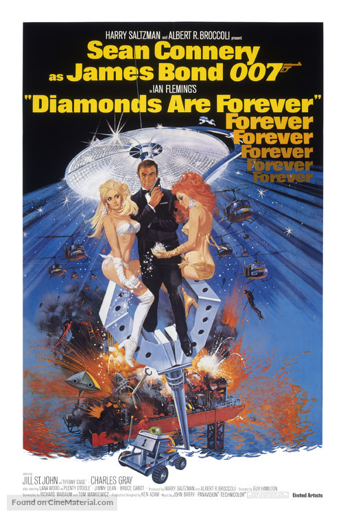 Diamonds Are Forever - Theatrical movie poster