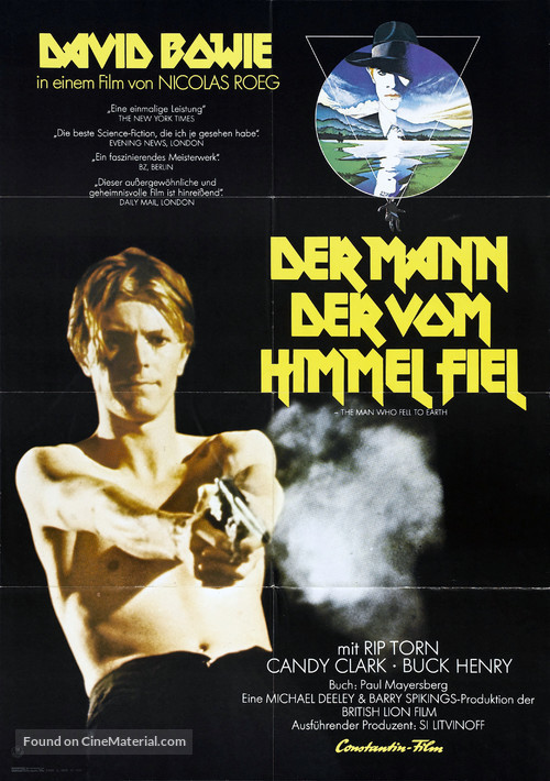 The Man Who Fell to Earth - German Movie Poster