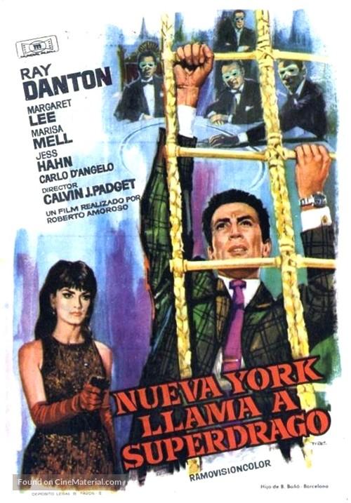 New York chiama Superdrago - Spanish Movie Poster