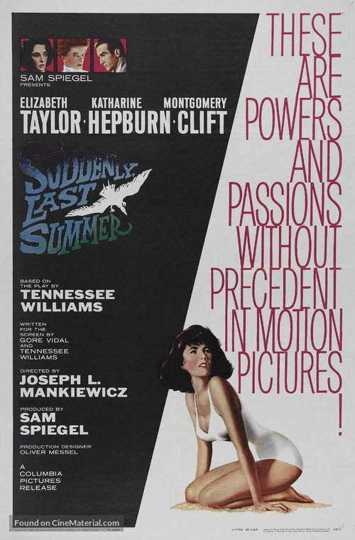 Suddenly, Last Summer - Movie Poster